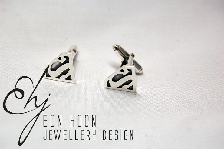 Superhero Cufflinks by Eon Hoon Jewellery Design