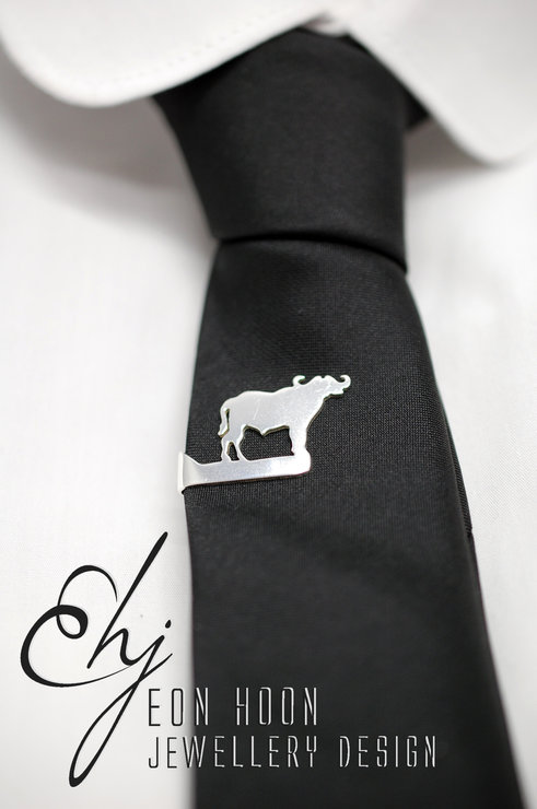 Buffalo Tieclip by Eon Hoon Jewellery Design