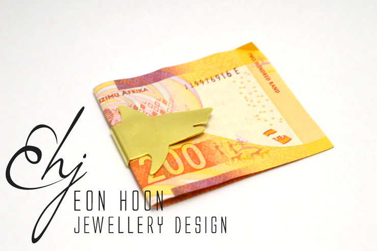 Brass Shark Moneyclip by Eon Hoon Jewellery Design