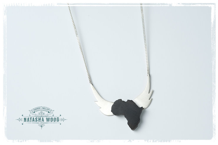 Silver winged wooden africa necklace hello pretty buy design silver winged wooden africa necklace by natasha wood jewellery aloadofball Choice Image