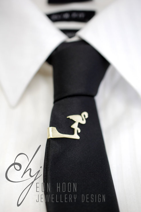 Flamingo Tie Clip by Eon Hoon Jewellery Design