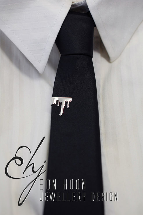 Dripping Tie Clip by Eon Hoon Jewellery Design