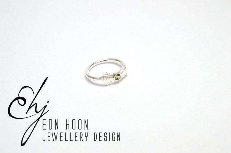 Green Tourmaline Art Deco Ring by Eon Hoon Jewellery Design