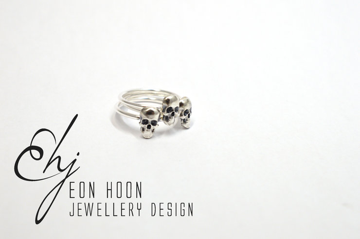 Skull stack ring set by Eon Hoon Jewellery Design