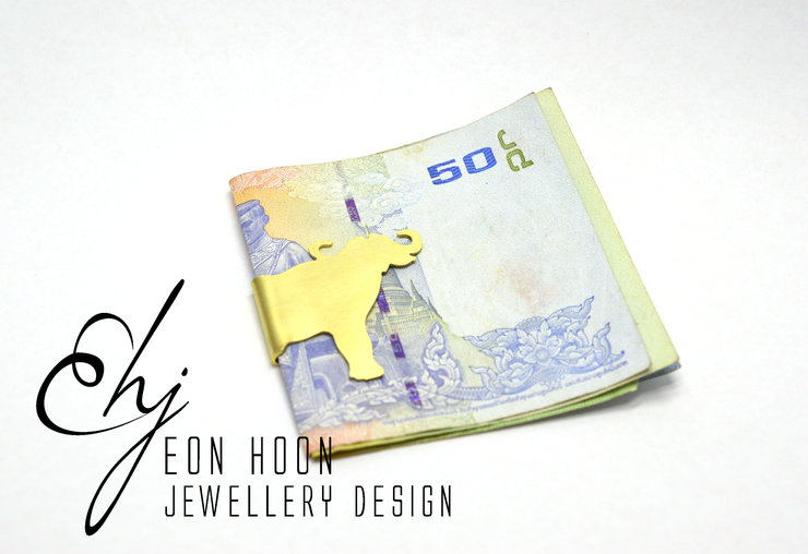Brass Buffalo Money Clip by Eon Hoon Jewellery Design