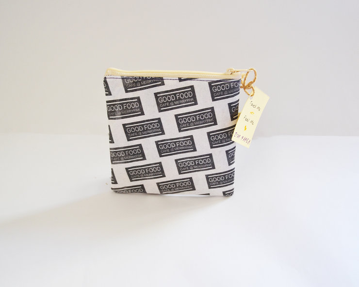 Coin bag upcycled Serviette by Creative Lines