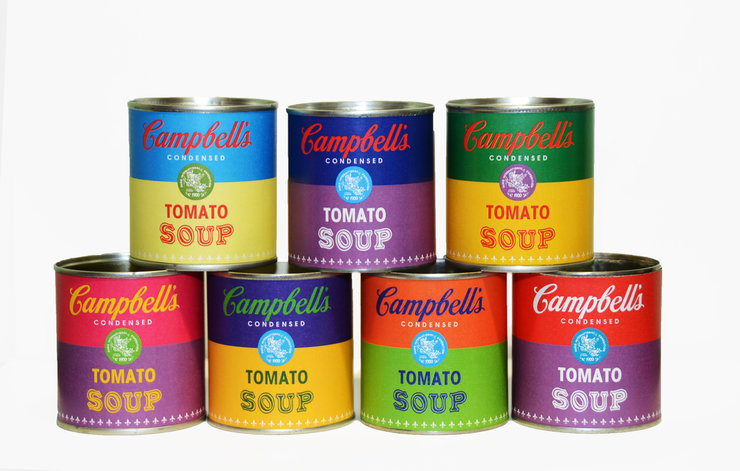Andy Warhol inspired Campbell's Soup - Set of 7 by BLIKSIM