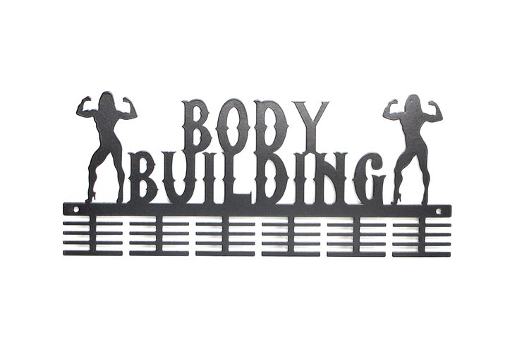 Lady body building medal hanger in Black by Medal Hanger & Home Décor Specialists - DC Designers