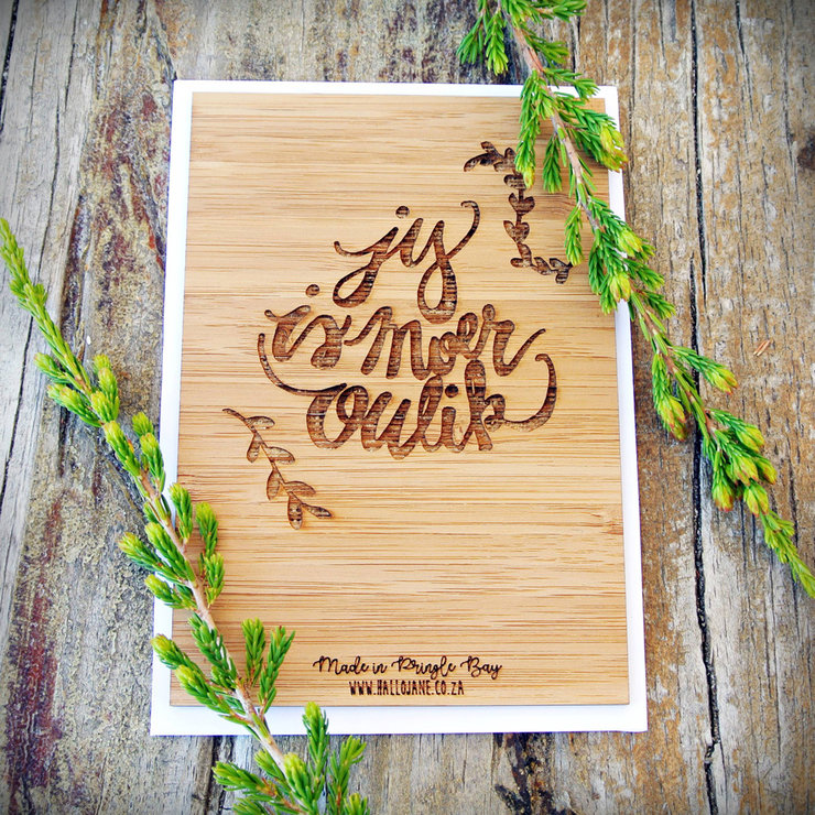 Jy Is Moer Oulik - Bamboo Gift Card by HALLO JANE