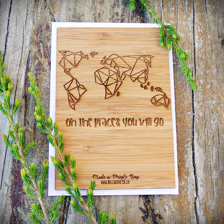 Oh The Places You Will Go - Bamboo Gift Card by HALLO JANE