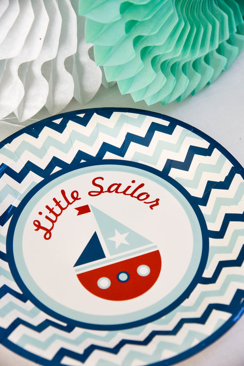 Little Sailor Paper Plates (Pack of 8) by Hunters Rose