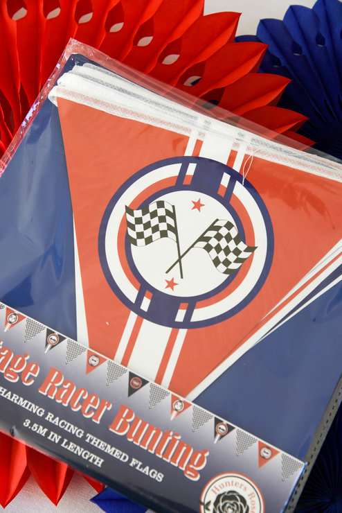 Vintage Racer Paper Bunting by Hunters Rose