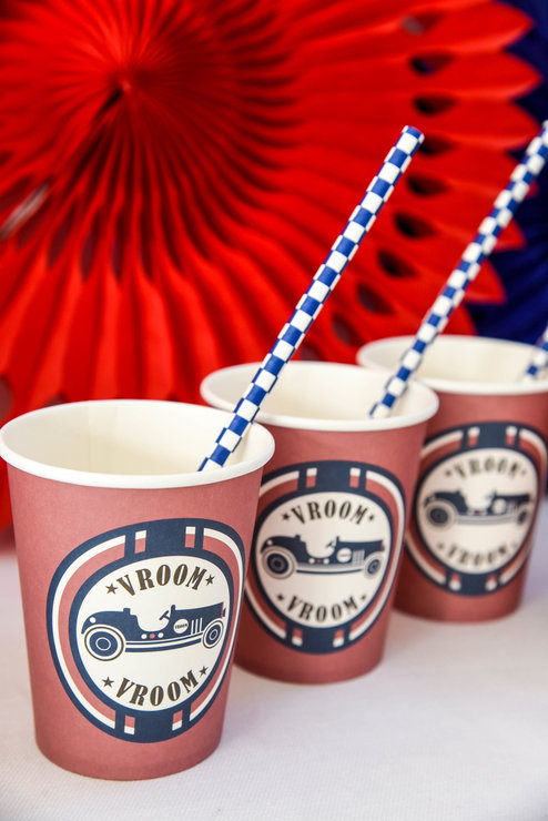 Vintage Racer Paper Cups (Pack of 8) by Hunters Rose