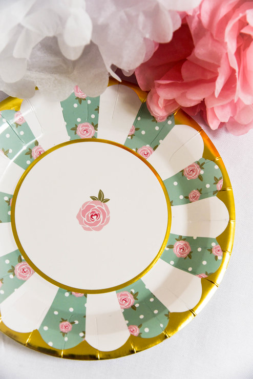 High Tea Paper Plate (Pack of 8) by Hunters Rose