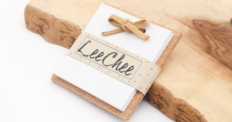 Light Brown Square Notepad  by LeeChee