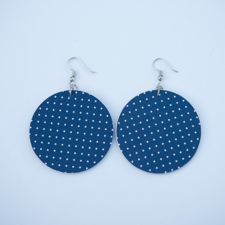 Perspex Navy White Dots by Lens and Hues