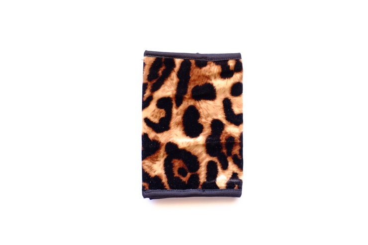 Natural Animal Print Velour Passport Cover by cover me pretty