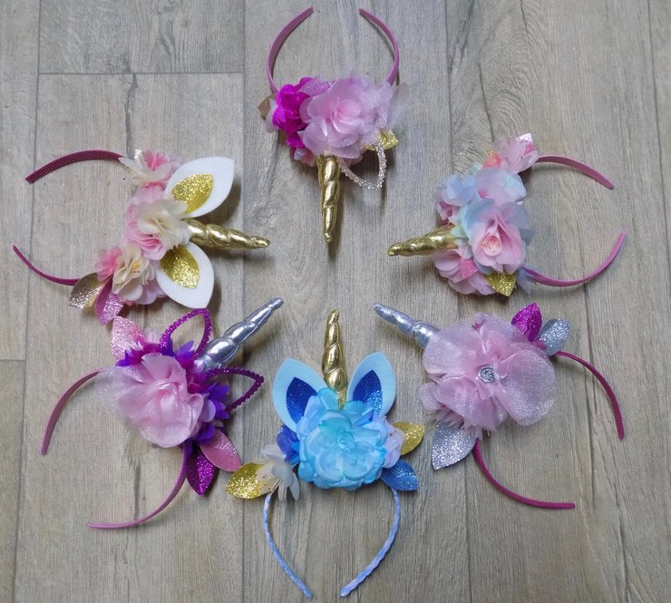 Unicorn Crystal Crowns - Custom Made by Roaming Road