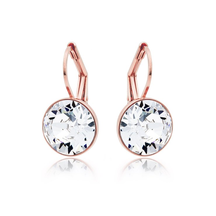 850156caed6 Civetta Spark Miki Earrings with Clear Swarovski Crystal - Rose Gold Plated  by Civetta Spark