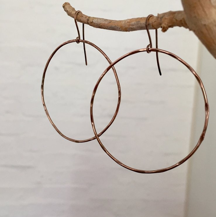 Sterling silver Rose Gold Plated - Hoops by Jessica Jane Jewellery