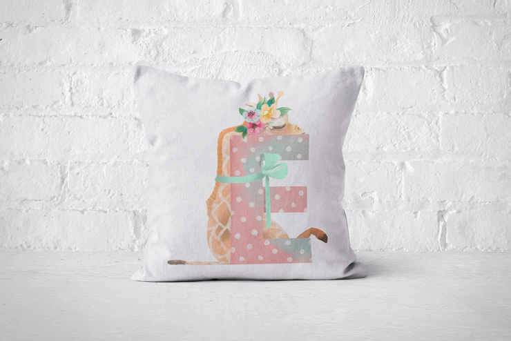 Pretty Letters Pillow Cover - E by But Why Not