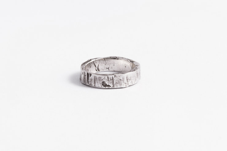 Irregular & Deconstructed shape - Sterling silver / SANS QUEUE NI TÊTE by Morgane & The Queen