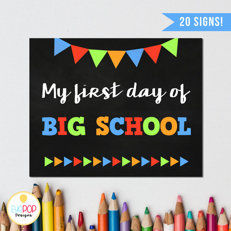 graphic about First Day of School Printable Sign named 1st Working day of Faculty Chalkboard Indicator Pack, Boy, Reusable, Again in the direction of College, Printable, 1st Working day Picture Prop, 1st Working day