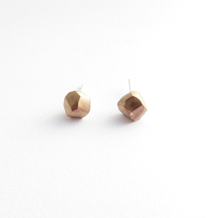 Nugget Stud - bronze by Savage Jewellery