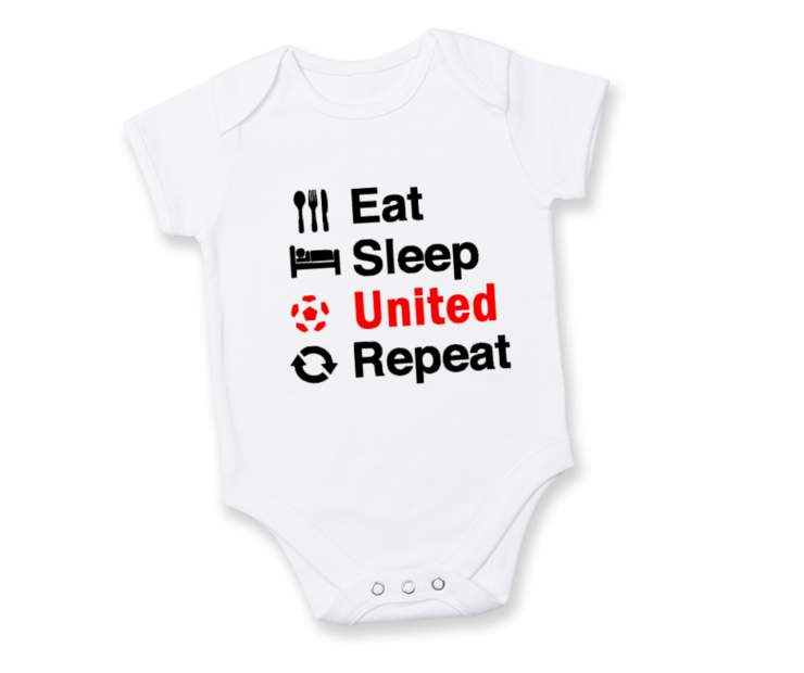 Eat, Sleep, United Repeat MANCHESTER UNITED Baby Onesie /Manchester United baby outfit/ Infant Soccer Baby/ Baby shower Gift by Little Lion Cub Boutique