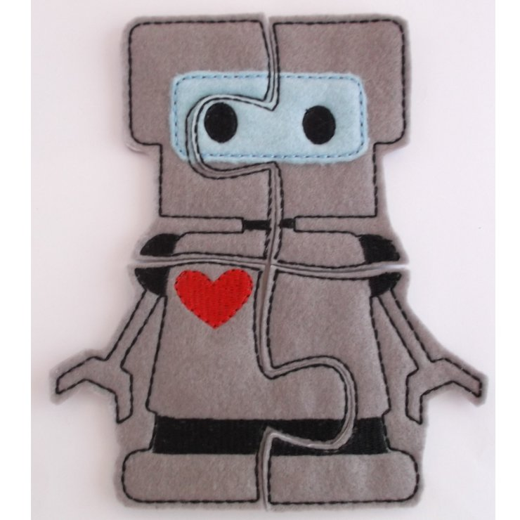 Educational Felt Puzzle Robot by Thats so ME!