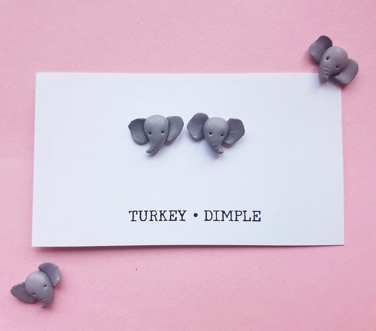 Ellie Studs by turkey dimple