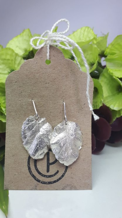 Sterling Silver Elm Tree leaves  by CP Jewellery