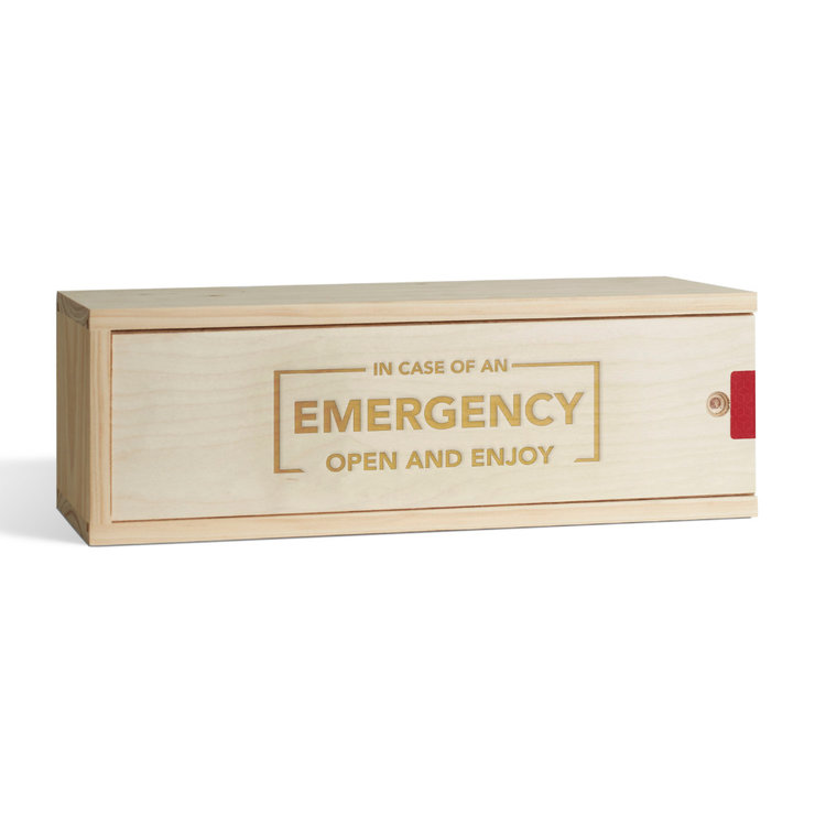 In Case Of Emergency Wine Box