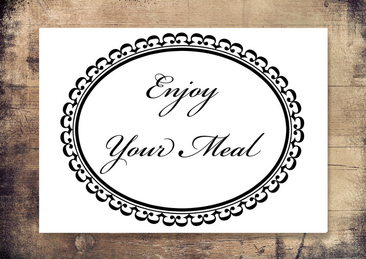 Enjoy Your Meal Disposable Placemats By Sweet Pea Decor