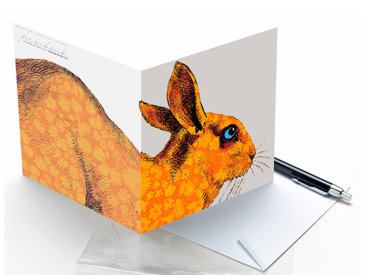 6 Funky Rabbit Greetings Cards by Tony Pinchuck