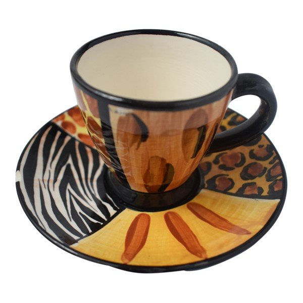 ETULU-NYATHI Espresso V-SHAPED narrow Cup & Saucer by ETULU.Online