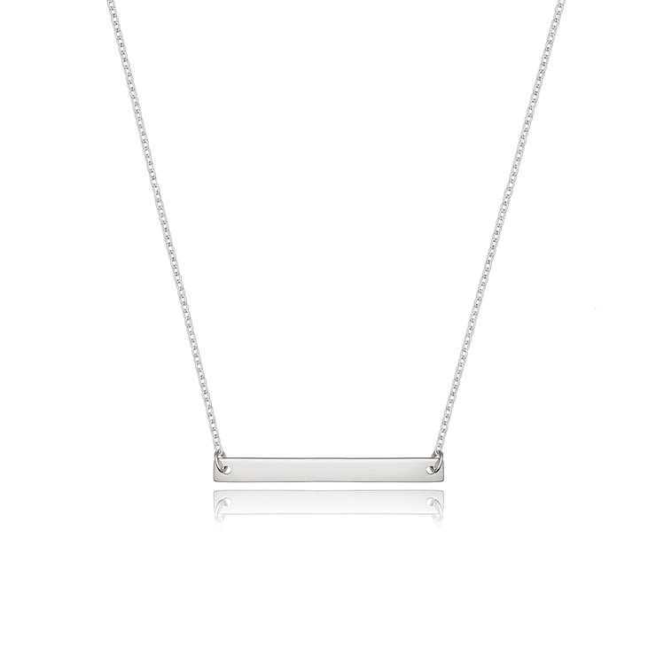 Sterling Silver Necklace - Horizontal Bar by Euvella