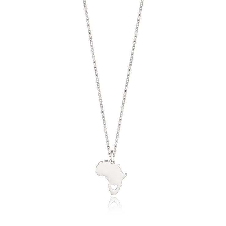 Africa Heart - Sterling Silver by Euvella