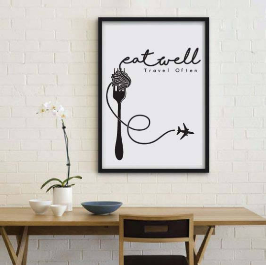 Eat Well, Travel Often, Printable Quote by Call It Magic Designs