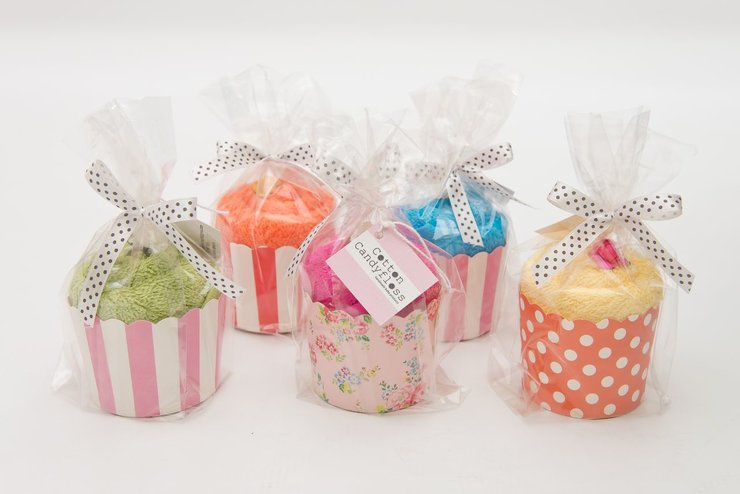 Cotton Facecloth Cupcake Gifts by Cotton Candyfloss