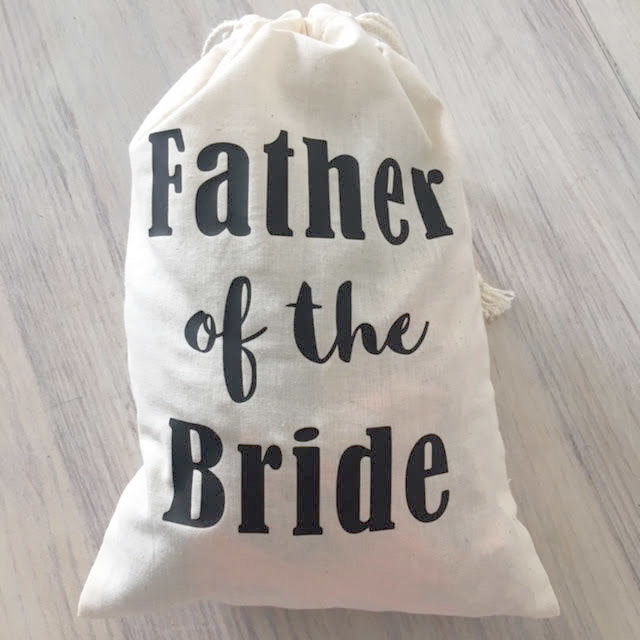 Father of the bride drawstring bag by Polkadot Box