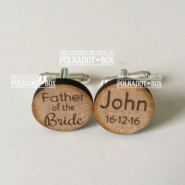 Father of the Bride Wedding Cufflinks by Polkadot Box