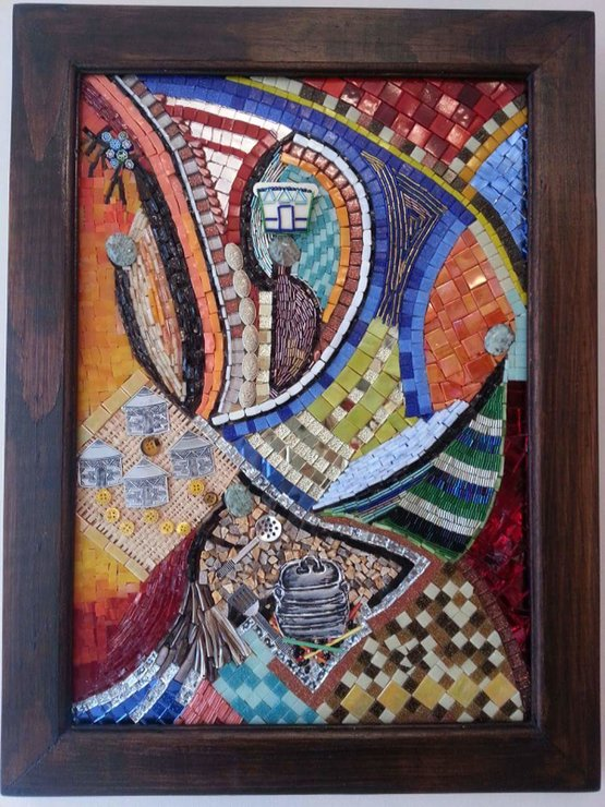 Abstract of an African Village Mosaic by For the Love of...