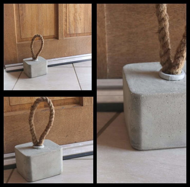 Cement doorstopper by Oh my woodness