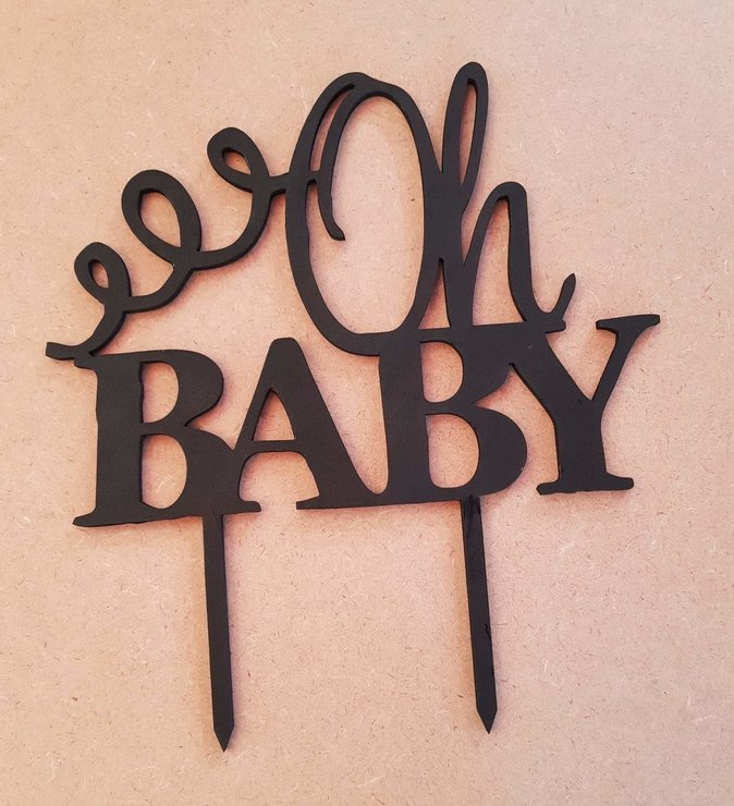 Oh baby - cake topper by LC&YT