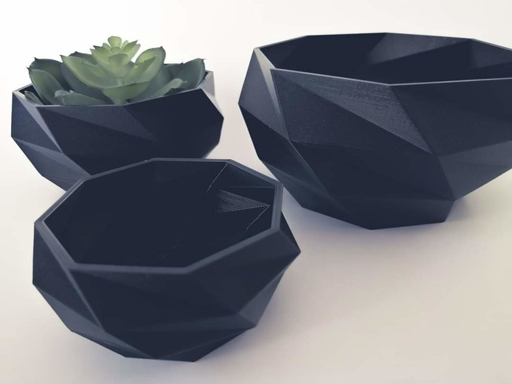 3D PLA Planter set of x3 by Betty Boo