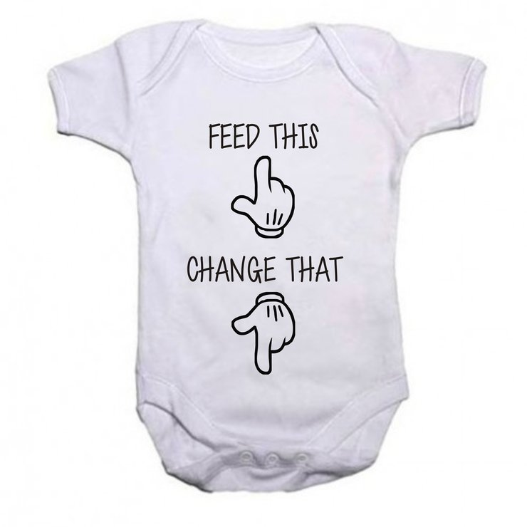Feed this, Change that baby grow by Qtees Africa (Pty)Ltd