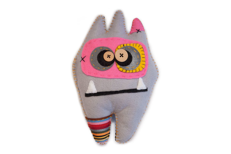Hand Made Felt Monster ~ Wang tooth shape by Abundance Designs