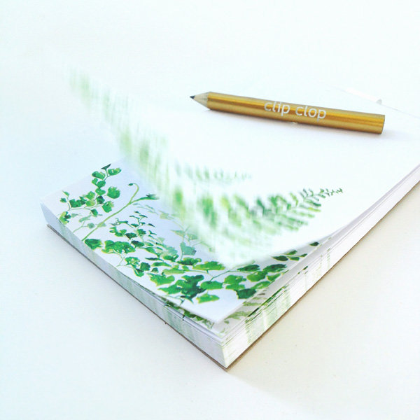 Magnetic Notepad NP01 ferns by Clip Clop