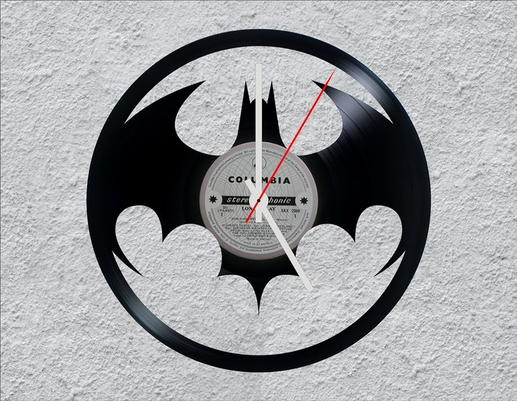 Uber With Kids >> Batman LP Vinyl Clock by Uber Cool Design